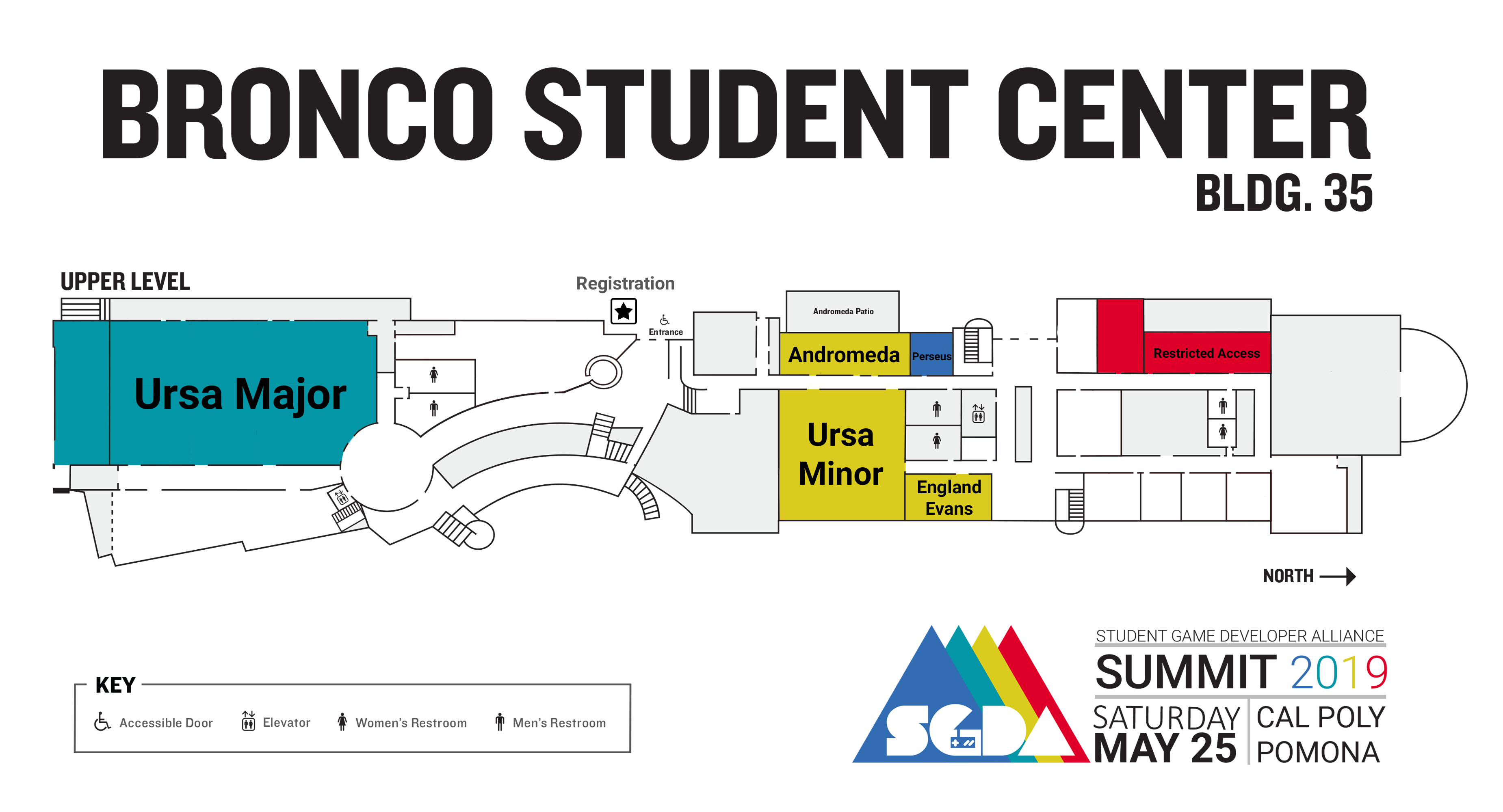 Map of the Venue for the SGDA event.